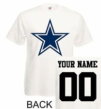 Dallas Cowboys T-Shirt JERSEY NFL Personalized Name Number Team Football