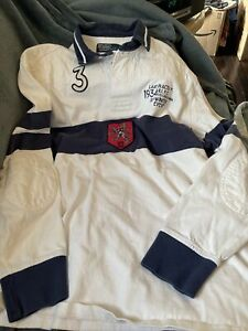 Vintage Ralph Lauren Polo Lake Placid Winter Olympics Rugby Long Sleeve Shirt L