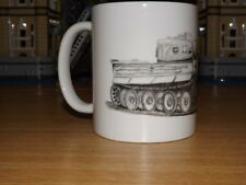 WW2 WWII 1940s German Tiger Tank Panzer Troop Cut Away Drawing Coffee & Tea Mug