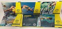 5 FOLDER COVER DESIGNS 2016 $2 AUSTRALIAN RIO OLYMPIC GAMES TEAM SET OF 5 COINS