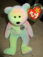 Ty Beanie Baby B.B. Bear DOB Write In Your Own  MWMT Free Shipping