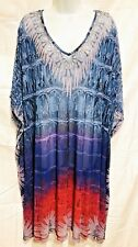 plus sz M 20  TS TAKING SHAPE The Way It Is Sheer Loose Kaftan Cover Up Top NWT