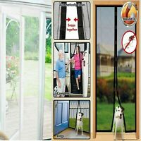Magic Door Curtain Mesh Magnetic Fastening Hands Free Insect Fly Screen New