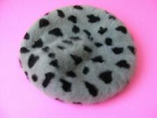 Filippo Catarzi Hat Leopard Fluffy Angora Wool Beret Hearts 100 Year Anniversary