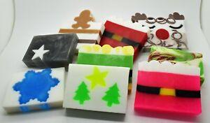 Christmas Soap Slices - Santa Christmas Tree Reindeer Gingerbread Star - VEGAN