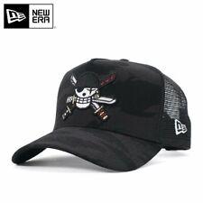 ONE PIECE × NEW ERA 9FORTY MESH CAP A-FRAME TRUCKER ZORO Camo Black Snapback