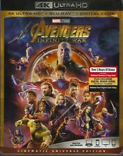 AVENGERS INFINITY WAR 4K ULTRA HD & BLURAY & DIGITAL SET with Robert Downey Jr.