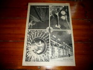 DEVO DUTY NOW FOR THE FUTURE 1979 FULL PAGE PRESS ADVERT POSTER SIZE  37/26CM
