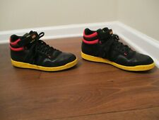 Used Worn Size 13 Adidas Concord Mid NBA Series Shoes Black Gold Red