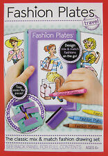 TRAVEL Fashion Plates Set Kahootz Dress Design Clothing Designer Kit new Toy