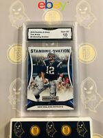 2016 Rookies & Stars Tom Brady #9 - 10 GEM MT GMA Graded Patriots Football Card