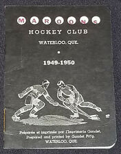 1949-1950 - WATERLOO MAROONS - QUE, CANADA - E.T.I.H.L. - HOCKEY SCHEDULE