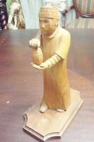 "Wooden Priest Sculpture hancrafted by Steve Luczkow, 9"" tall[8]"