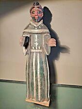 SANTOS Wood Statue icon ANTIQUE SAINT Religious Figure VTG church ALTER salvage