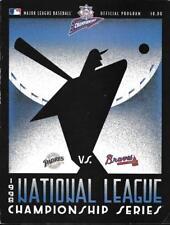 San Diego Padres - Atlanta Braves 1998 MLB Championship Series Official Program