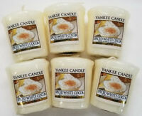 Yankee Candle Votives: SPICED WHITE COCOA Wax Melts Lot of 6 White New