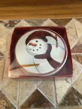 New St. Nicholas Square Yuletide Coaster set of 4 Snow Man