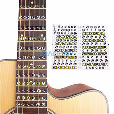 Guitar Fretboard Note Lable Stickers Fret Map Decals For Electric Folk Guitar