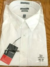 Pierre Cardin Men's White Dress Shirt Size Tall 1xlt 17-17 1/2 Slim Fit