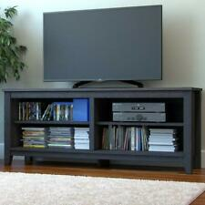 Ryan Rove Mission Wood TV Stand and Console Table Charcoal Wooden Color, 58 Inch