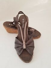 Toni Pons Womens Wedge Espadrilles Taupe Brown Sandals  Size UK 6 EUR 39