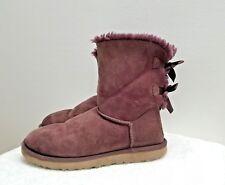 "UGG Women's Ankle Boots ""Bailey Bow"", #1002954, Deep Bordeaux Color, Size 8,"