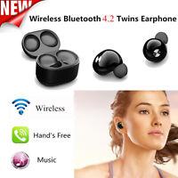 Mini True Wireless Bluetooth 4.2 Twins Stereo In-Ear Headset Earphone Headphone