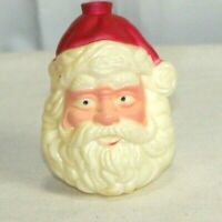 Vintage Plastic Red and White Santa Head Christmas  Ornament replacement light