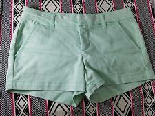 Womens HARPER Mint Green 4 Pocket Stretch Shorts Cotton Blend Size 26