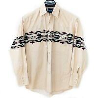 WRANGLER Western Cowboy Pearl Snap Long Sleeve Shirt Mens * L Aztec Print