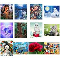 5D DIY Full Drill Diamond Painting Animals Cross Stitch Embroidery Mosaic JF#E