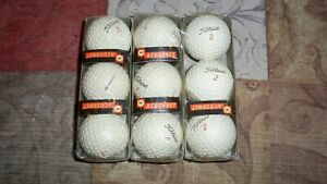 Three sleeves of vintage Titleist and Acushnet golf balls #2,3,4