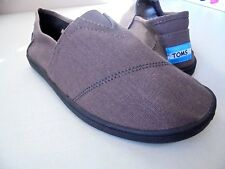 TOMS MEN'S 13 NEW BROWN CANVAS LOAFERS SHOES ONE FOR ONE