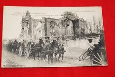 TROUPES FRANCAISE RUINES DE LASSIGNY 1917 ATELAGE  R300