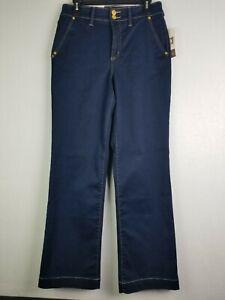 Anne Klein NWT  Women's Slim/Sculpt/Smooth High Rise Trouser Blue Sz 10