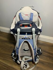 Osprey Poco AG Unisex Hiking Child Carrier Pack Seaside Blue / Grey - New / Tags