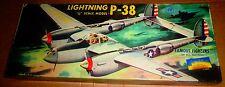 VINTAGE [1955] AURORA FFOAN P-38 LIGHTNING 1/48 + BONUS ITEMS!!!