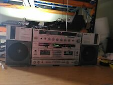 More details for philips d8734 boombox, 2x tape/cassette, radio am-fm, aux+ phono input (493)
