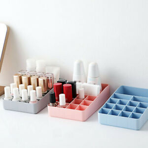 15 Grid Cosmetic Storage Case Desktop Shelves Lipstick Nail Holder Organizer Box