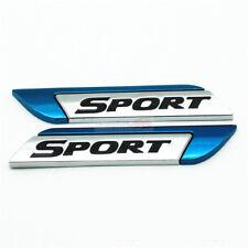 2pcs Blue Sport Metal Chrome Emblem Badge Side Rear Sticker For Audi Porsche