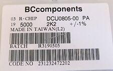 500 pièces - 2,2k - 0805 0,125w 1% dickfilm smd résistance 2k2 ohm-BCcomponents