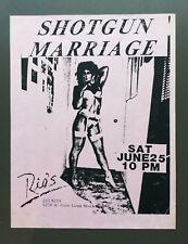 SHOTGUN MARRIAGE Vintage Flyer Ad For Rio's Show San Diego Hard Rock 1980's