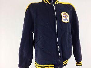 Vintage Jacket 1960s VFW Military Veterans Military Letterman Jack Navy Blue