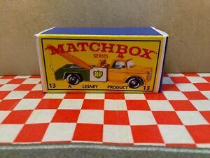 Matchbox Lesney No13 BP Dodge Wreck Truck EMPTY Reproduction Box Only  NO CAR