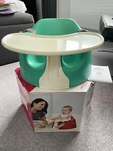Unused Bumbo baby seat with tray