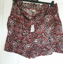BNWT Papaya Black Rusty Brown Shorts Size 14