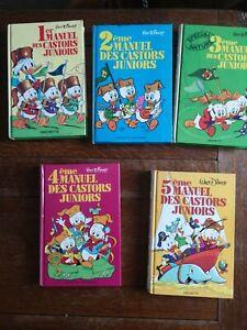 Livres 1 2 3 4 5 Manuel des castors juniors   1980/1981/1979/1981/1980