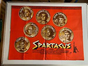 SPARTACUS RARE ORIGINAL MOVIE QUAD POSTER  Kirk Douglas, Laurence Olivier