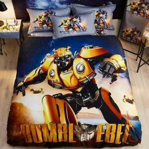 100% Cotton Transformers Bumblebee Protects Us Single Bed Quilt Cover Set