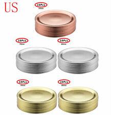 20 Split Lids Leak Proof Seal Storage Solid Cap for Regular/Wide Mouth Mason Jar